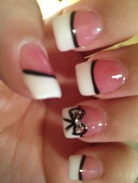 Cute and Classy French tip nails with bow!!! | My Style ...