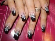 glitter acrylic nails design