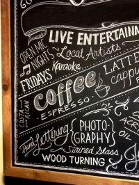 Coffee Shop Wall Art | Coffee Shop Chalkboard Art Leave ...