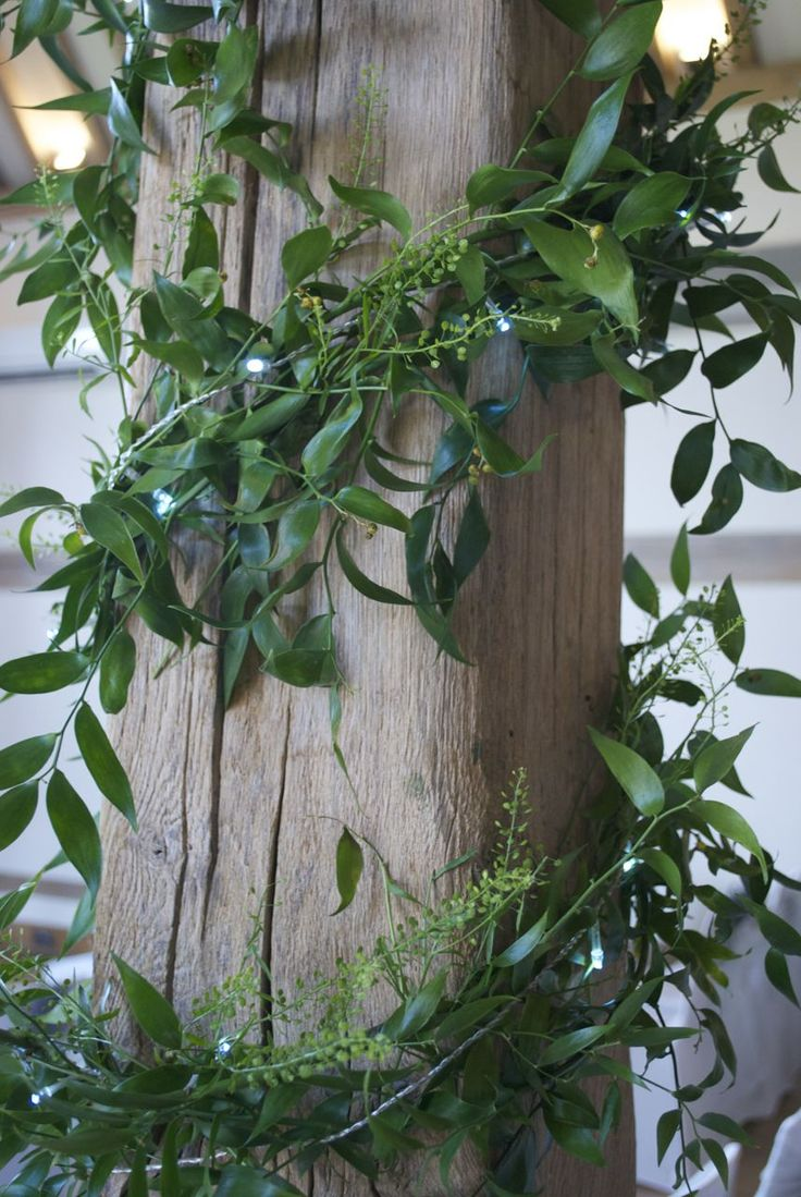 Foliage Beam Garlanding With Fairy Lights At Cain Manor