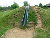 Love this slide idea for a hillside instead of a plastic ...