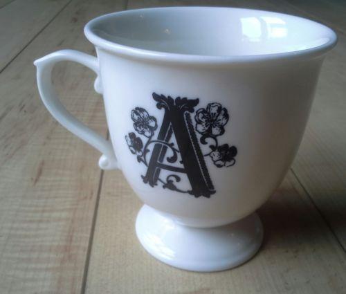 monogram coffee cups