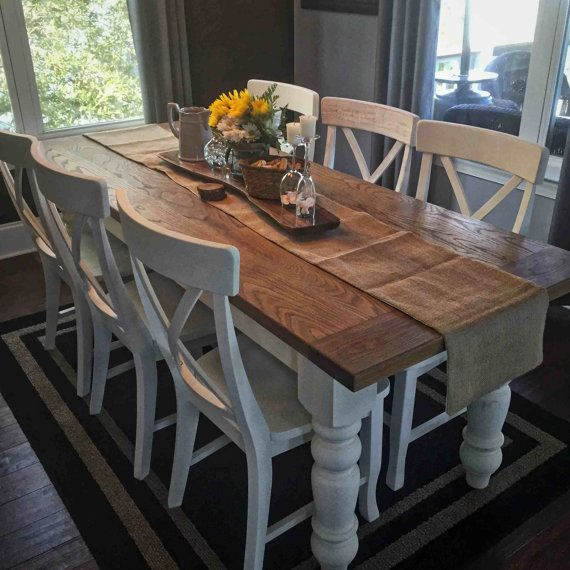 25+ best ideas about White Farmhouse Table on Pinterest