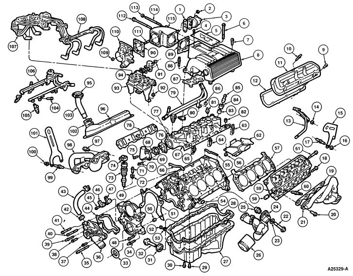 98 ford mustang engine diagram