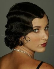 finger waves hairstyle medium