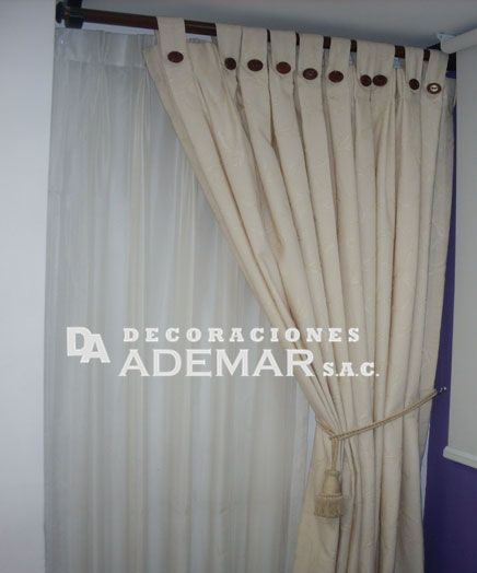 Cortinas perucortinas con barras de acero cortinas para