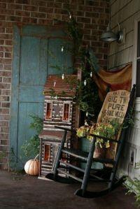 Primitive ..love the salt box house | Front Porch ...