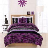 teen twin Bedding for Girls | Twin Cosmo Girl Purple Zebra ...