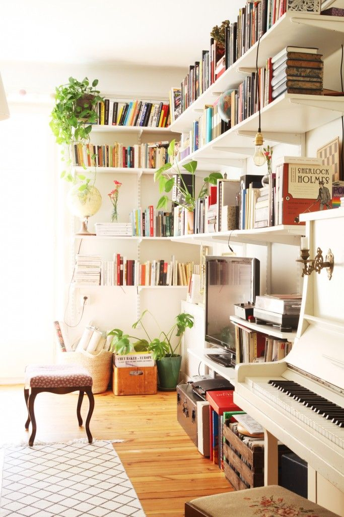Living Room Bookshelves Pinterest