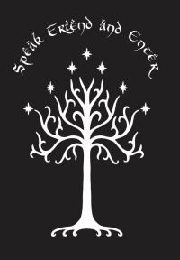 Tree of Gondor w/ Speak Friend and Enter Wall Decal ...