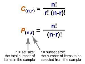 Permutations and Combinations, Combination refers to