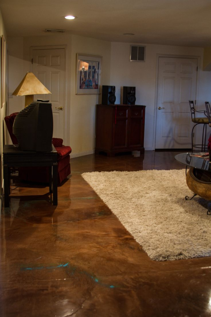 An Epoxy Floor With Metallic Brown By Countertop Epoxy Com