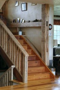 Interesting contrast of old barn wood on the railing and ...