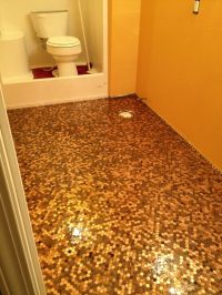 This is my own penny floor!! This was taken before the ...