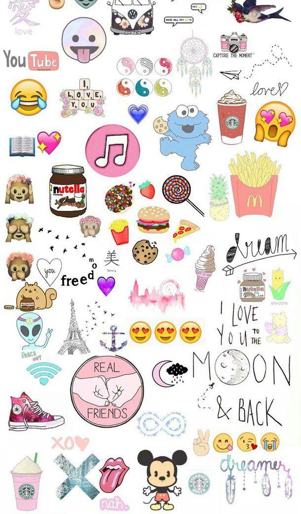Cute Nutella Wallpapers Food Emoji Wallpaper Google Search Kawaii Pic