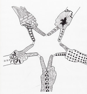 33 best images about Zentangle stars on Pinterest