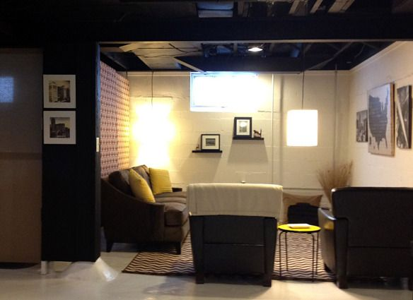30 Best Images About Semi Finished Basement On Pinterest