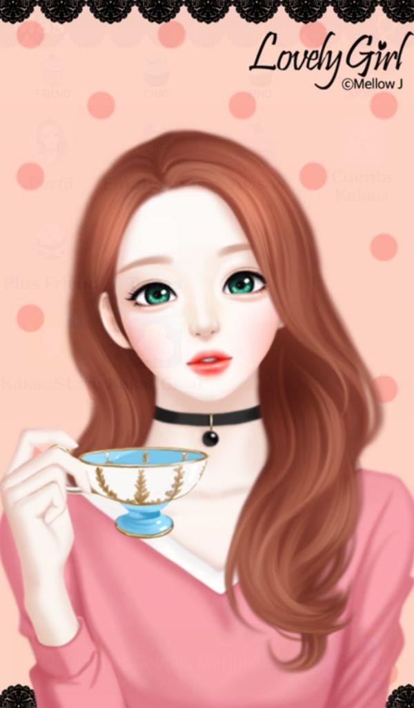 Korean Stylish Girl Cartoon Wallpapers Novocom Top