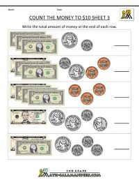 2nd Grade Math Worksheets Money | free counting money ...
