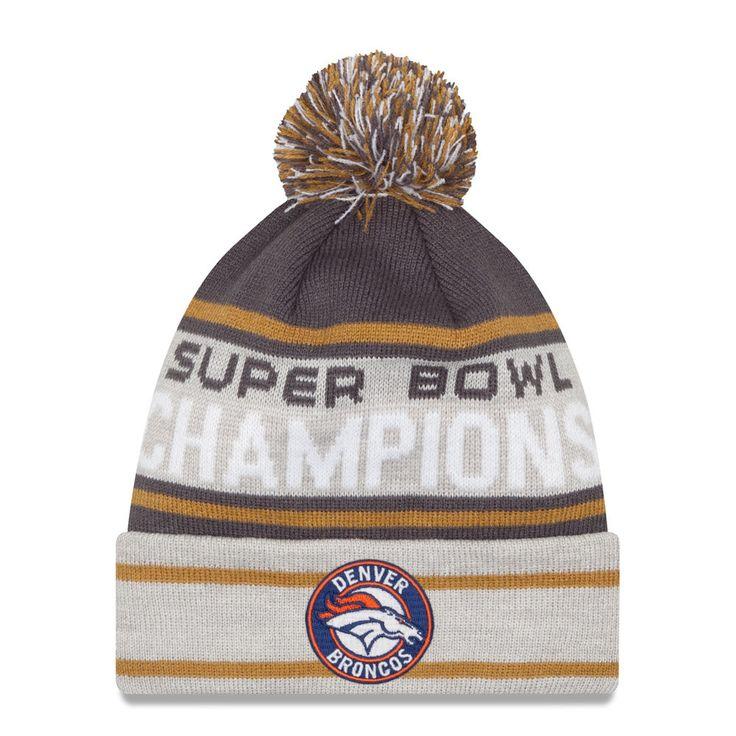 mens denver broncos new era graphite gray super bowl champions cuffed knit hat with