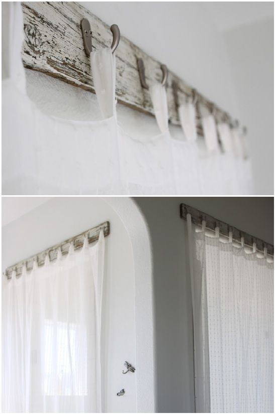 127 Best Images About DIY CURTAIN RODS CURTAINS On Pinterest