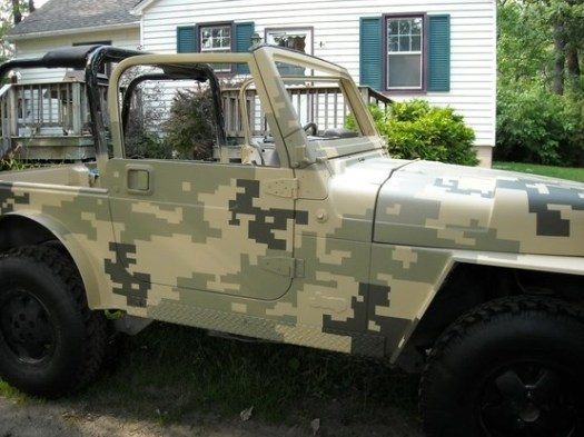 Camo Paint Digital Jeep Wranglers Camouflage Zombie Pixel Running
