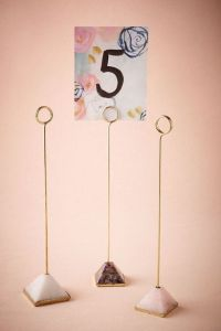 25+ best ideas about Table Number Holders on Pinterest