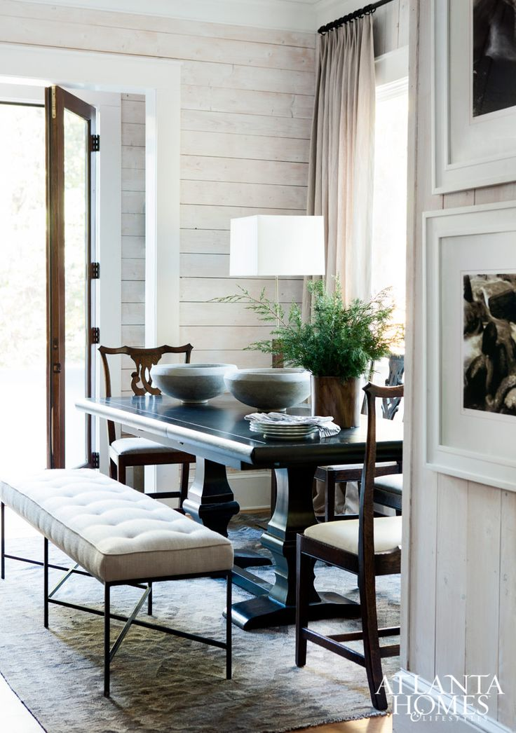 Mix and match dining - use a bench: