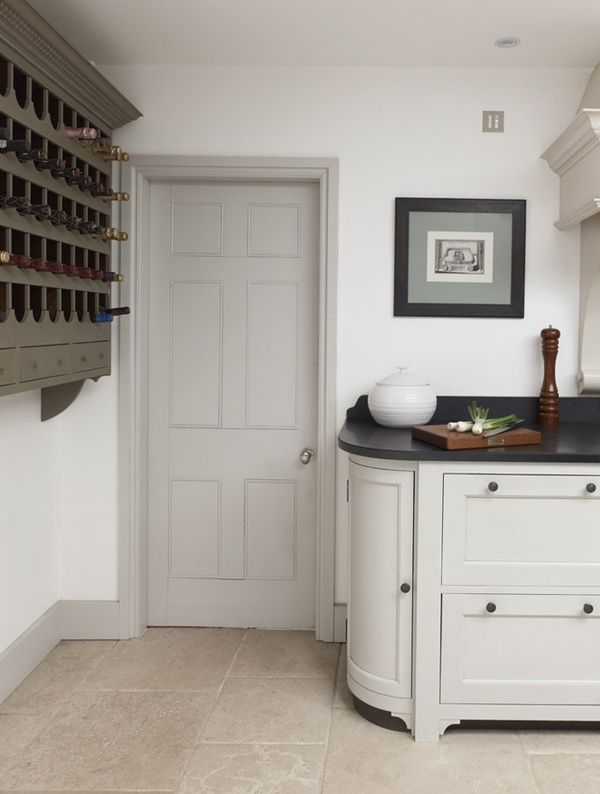 trim and cabinetry paint color darker than walls