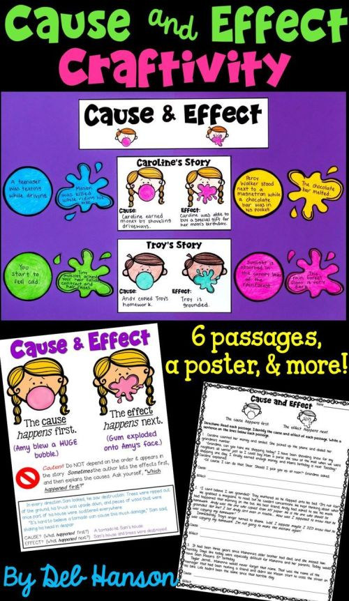 small resolution of Cause And Effect Writing Activities 4th Grade