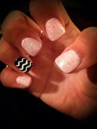 Light pink with chevron #nails #simple #cute | NAILS ...