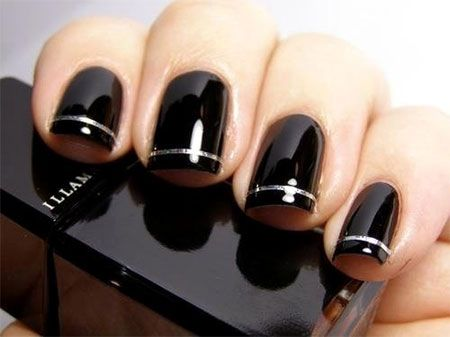 Simple Black Nail Art Designs Ideas 2013 2014 15 Simple Black Nail Art Designs &