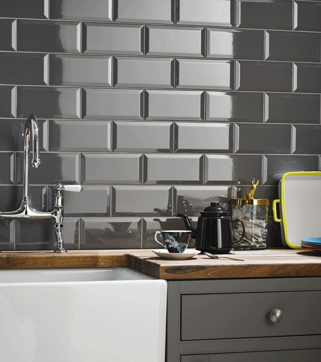 25 best ideas about Grey kitchen tiles on Pinterest