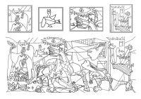 Pequeos pinceles Guernica para colorear   Colorear ...