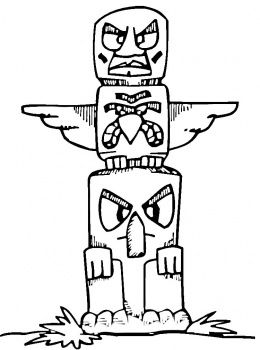 1000+ images about totem pole coloring pages on Pinterest