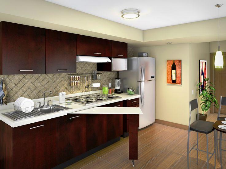 Agrega un diseo vanguardista a tu cocina con gabinetes