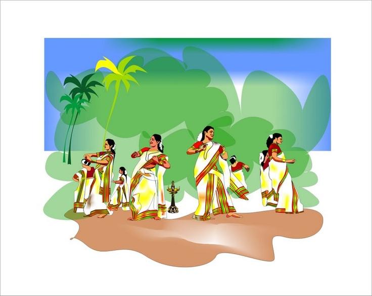 Onam Wallpapers Hd Thiruvathira Kali My Drawings Pinterest