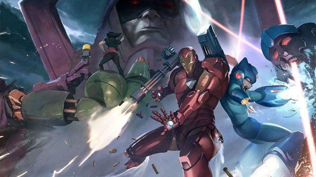 Marvel Vs Capcom  Tron Bonne, Servbot, Iron Man, Megaman