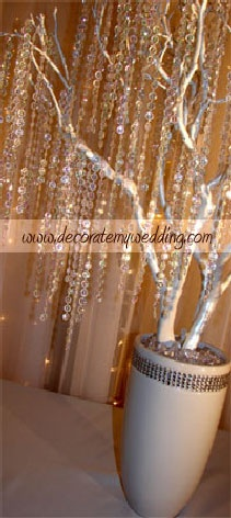 DIY CRYSTAL WEDDING TREE KITS  This tree is truly a showpiece — to be shadowed