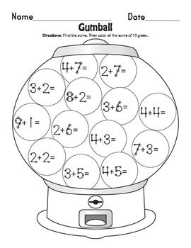 Gumball Math Coloring Pages