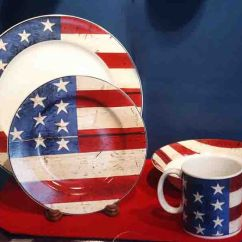Kitchen Canister Refacers Patriotic American Flag Dishes | #merica Pinterest ...