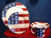 Patriotic American Flag Dishes