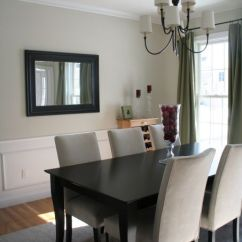 Custom Dining Chair Slipcovers Upside Down For Back Pain Benjamin Moore November Rain | ... From Moore. The Paneling Is