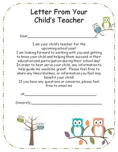 introduction letter to parents from preschool teacher  Google Search  preschool  Pinterest