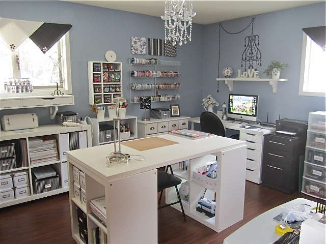 Pretty craft room  Home Sweet Home  Pinterest