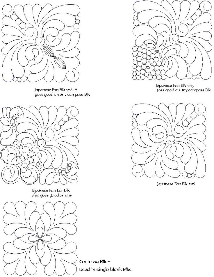 Quilting patterns, Quilting and Fans on Pinterest