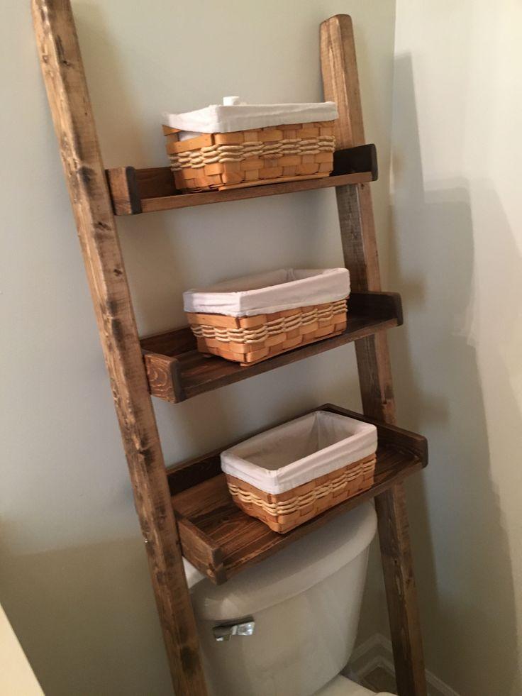 17 Best ideas about Leaning Ladder Shelf on Pinterest