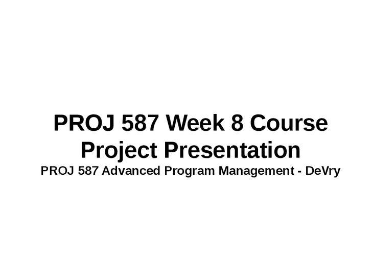 17 Best images about PROJ 587 Advanced Program Management
