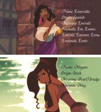 Meaning behind the names Esmeralda and Megara | Disney ...