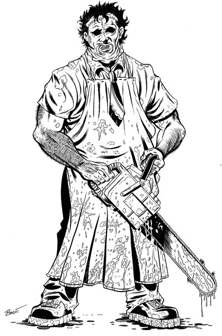leatherface coloring pages  google search  coloring
